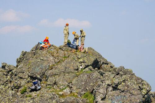на вершине горы Колпак