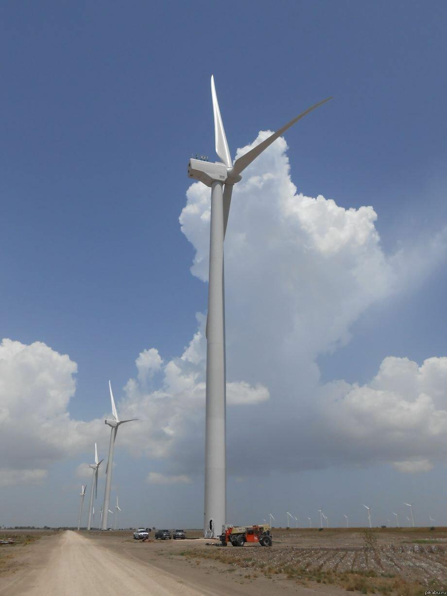 Размер ветряных электростанций