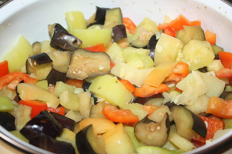 рагу овощное с шампиньонами