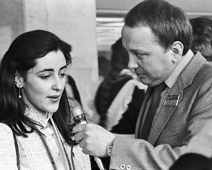 Тамара Гвердцители и Александр Масляков. 1982 год