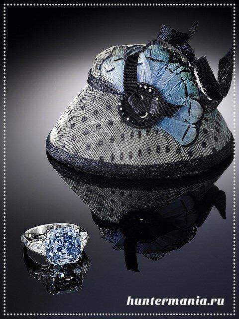 Самые дорогие бриллианты в мире - ярко-голубой бриллиант изумрудной огранки