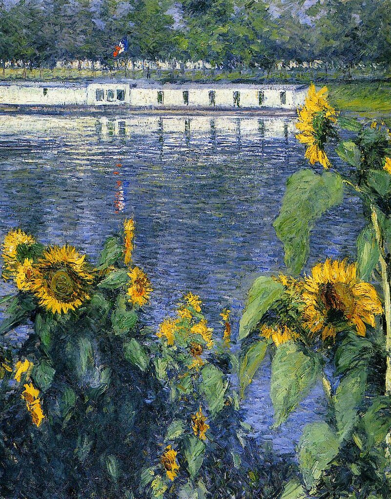 Sunflowers on the Banks of the Seine  -  1886 - Private collection - Painting - oil on canvas.jpg