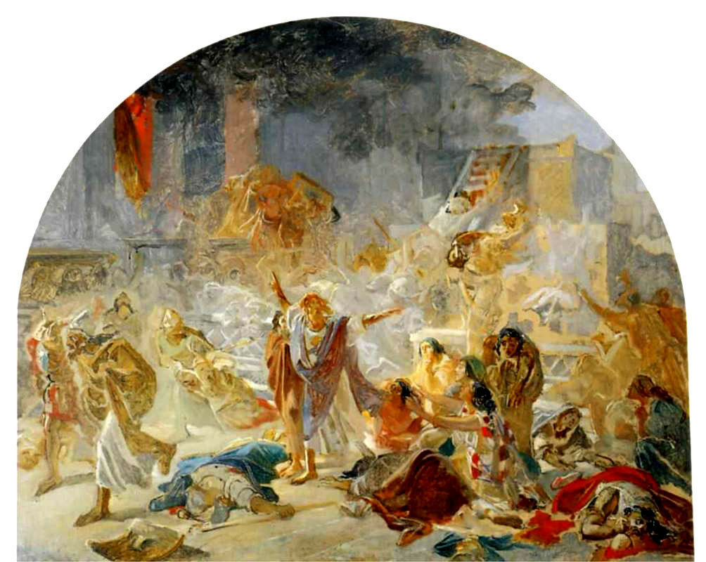 «Разрушение Иерусалимского храма» 1859 г.Холст, масло. Третьяковская галерея, Москва, Россия.