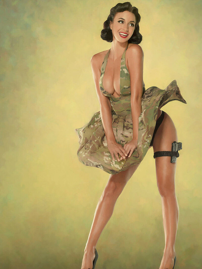 Голые девушки в стиле милитари фото 544-317