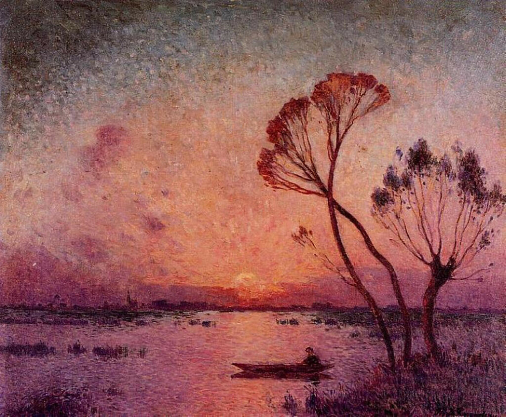 Ferdinand du Puigaudeau - Sunset at Briere.jpeg