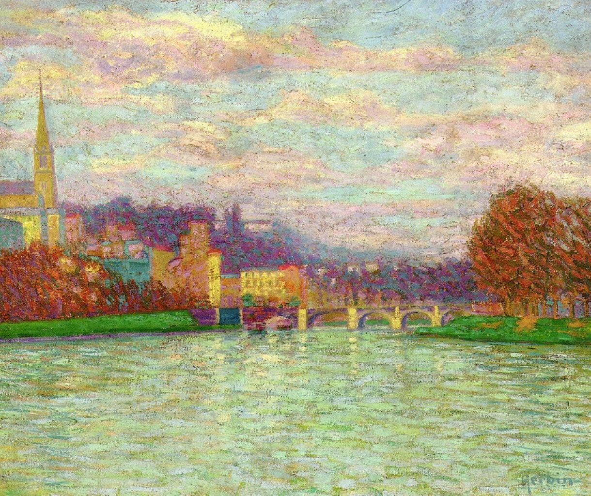 Auguste Herbin - After the Rain at La Roche-Guyon, 1906.jpeg