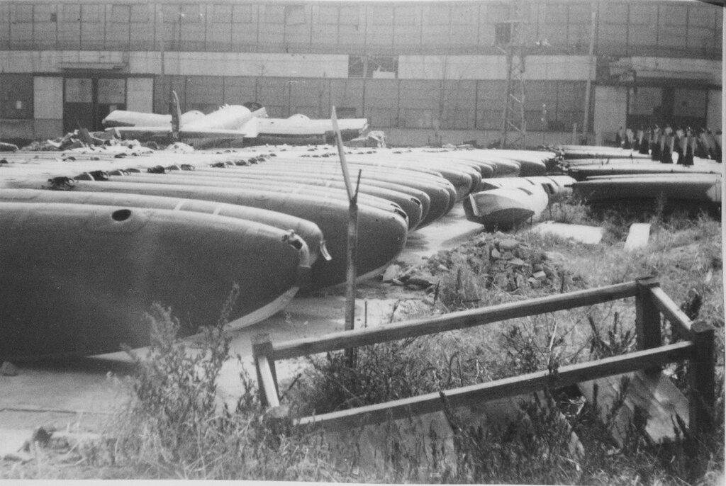 Aircraft factory in Fukuoka, Dec. 1945