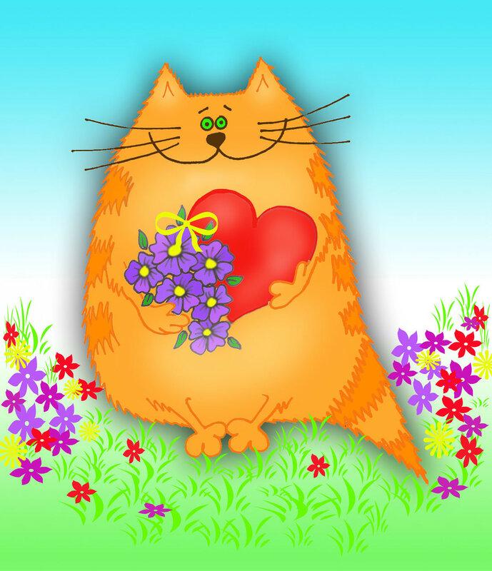 Открытки к 8 марта коты