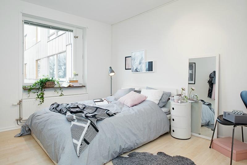 Белый цвет в интерьере спальни фото (15)