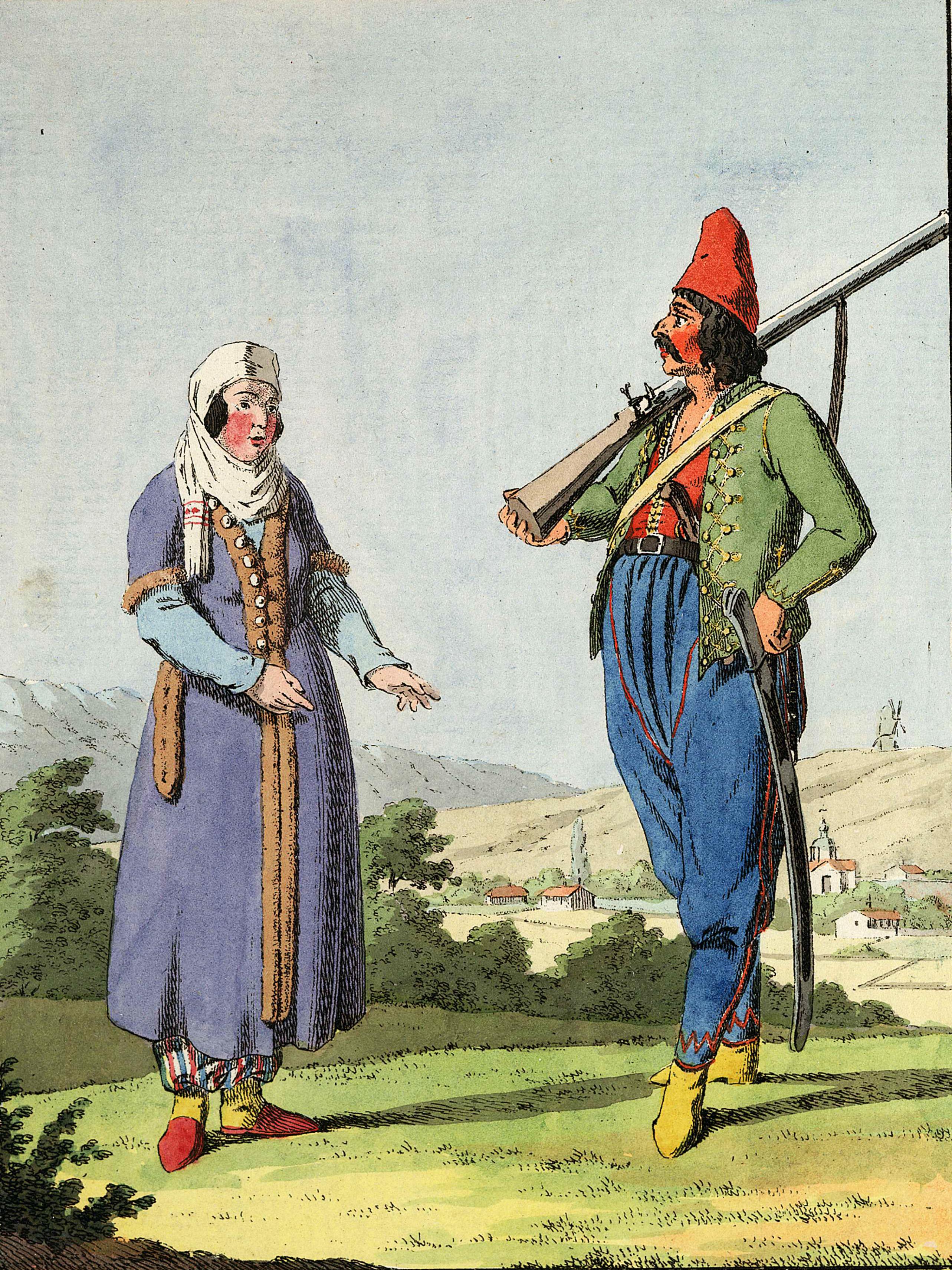 2-10. Простой арнаут упомянутого Албанского батальона с женой.
