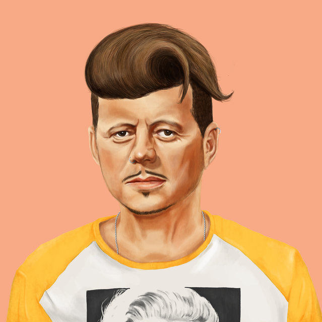 Hipstory: Beatnik John F Kennedy. (Photo by Amti Shimoni/Caters News)