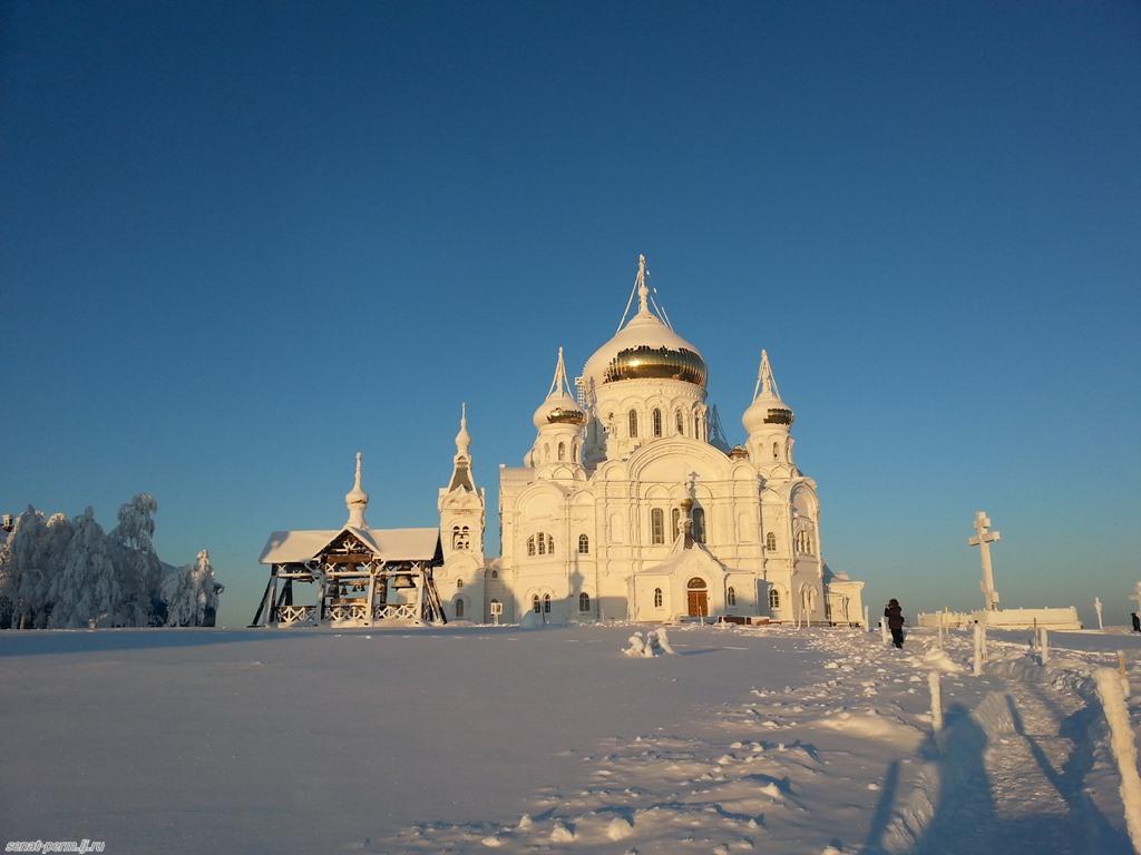 Белая гора в январе