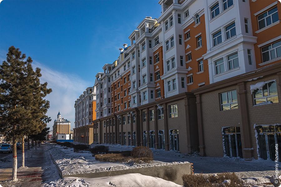 современные многоквартирные дома в Маньчжурии