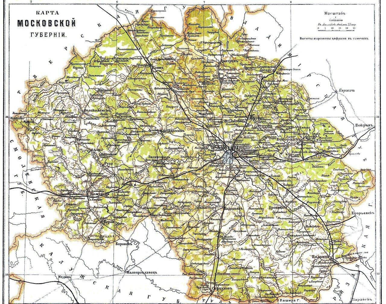 Карта Московской губернии