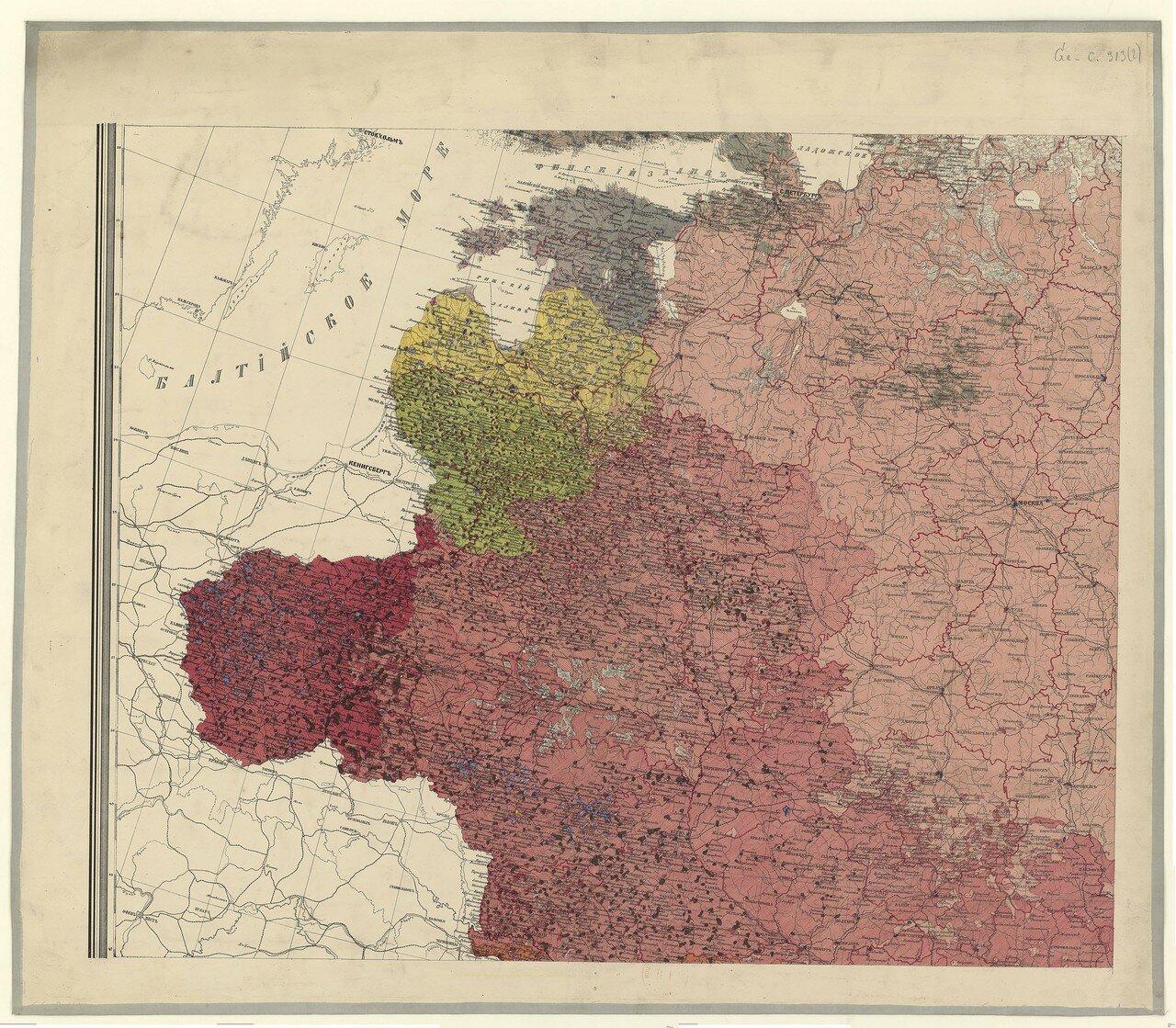 1875. Этнографическая карта Европейской России