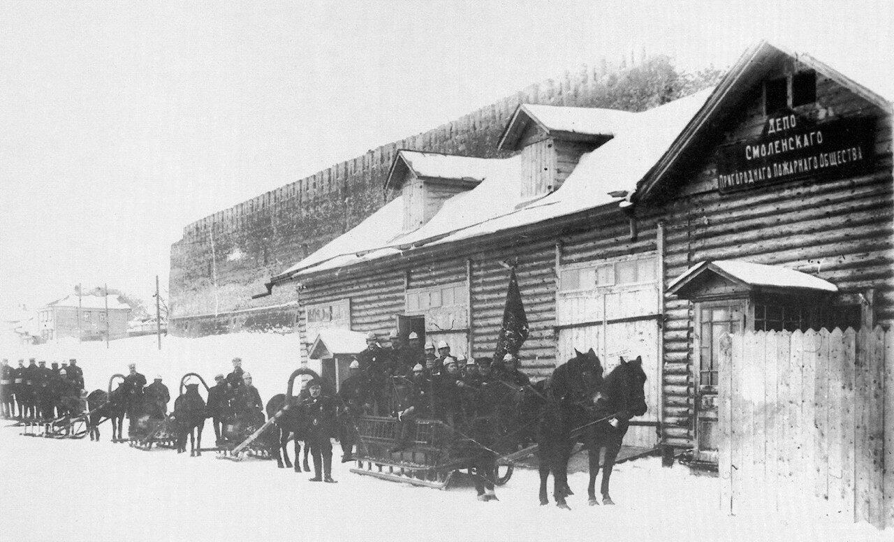 Армянская набережная.  Депо Пригородного пожарного общества. 1905