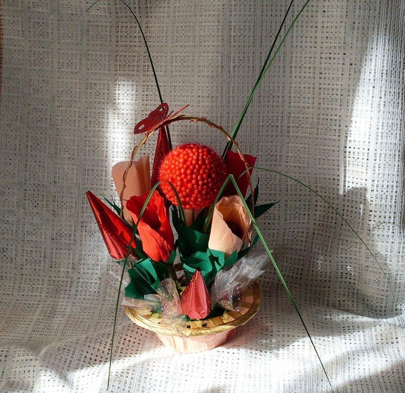 букеты из конфет, свит-дизайн