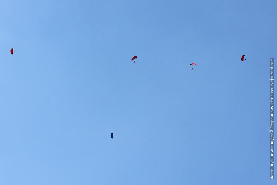 парашютисты. фигура пропеллер. 100 лет ВВС