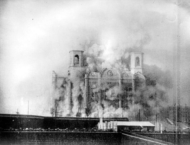 Demolition of the Cathedral of Christ the Savior, 1931.