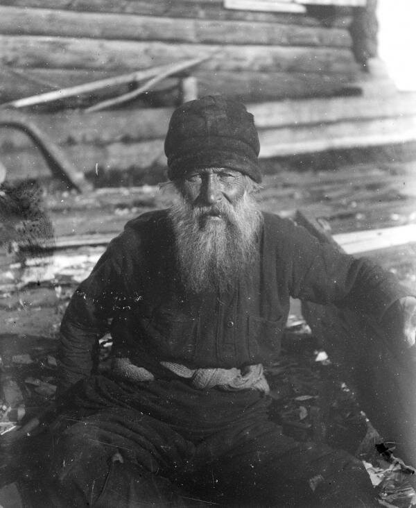 Portrait of D. M. Tyotkin, Russian peasant from Siberia, 1926.