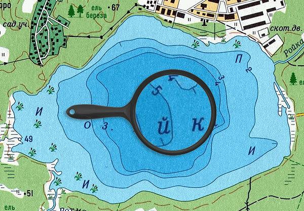 Карта глубин озера Ройка