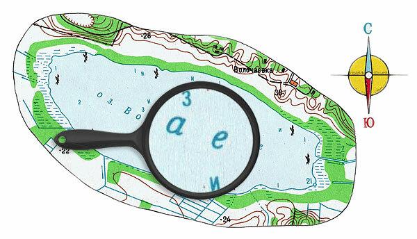 Карта глубин озера Волочаевское