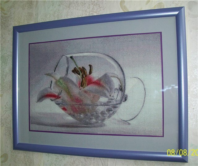 Оформление лили от Наташи Мышани.  Второе фото-с выставки в Новосибирске.