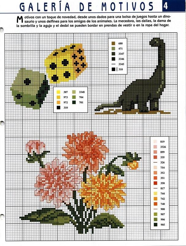 Схемы по-прежнему несложные, как и во всем журнале.  Направленность разнообразная: детские, цветы, бордюры, картинки.