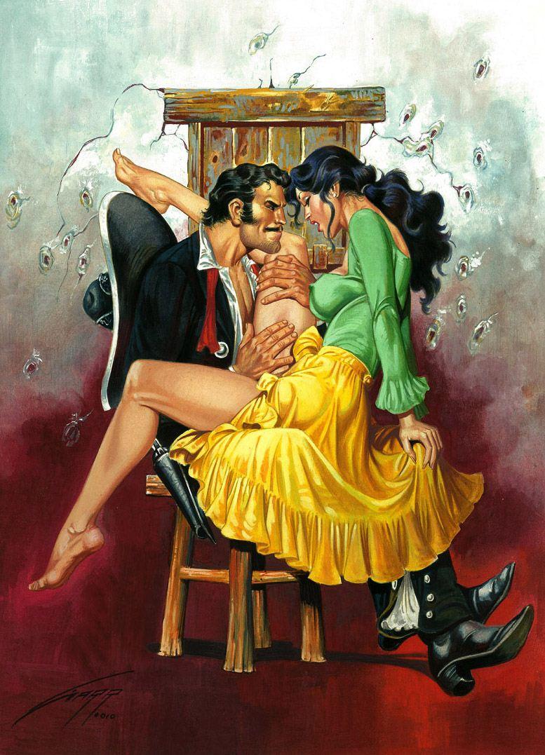 Горячие женщины - Рисунки художника Рафаэля Галлура / Rafael Gallur pictures - The Caress