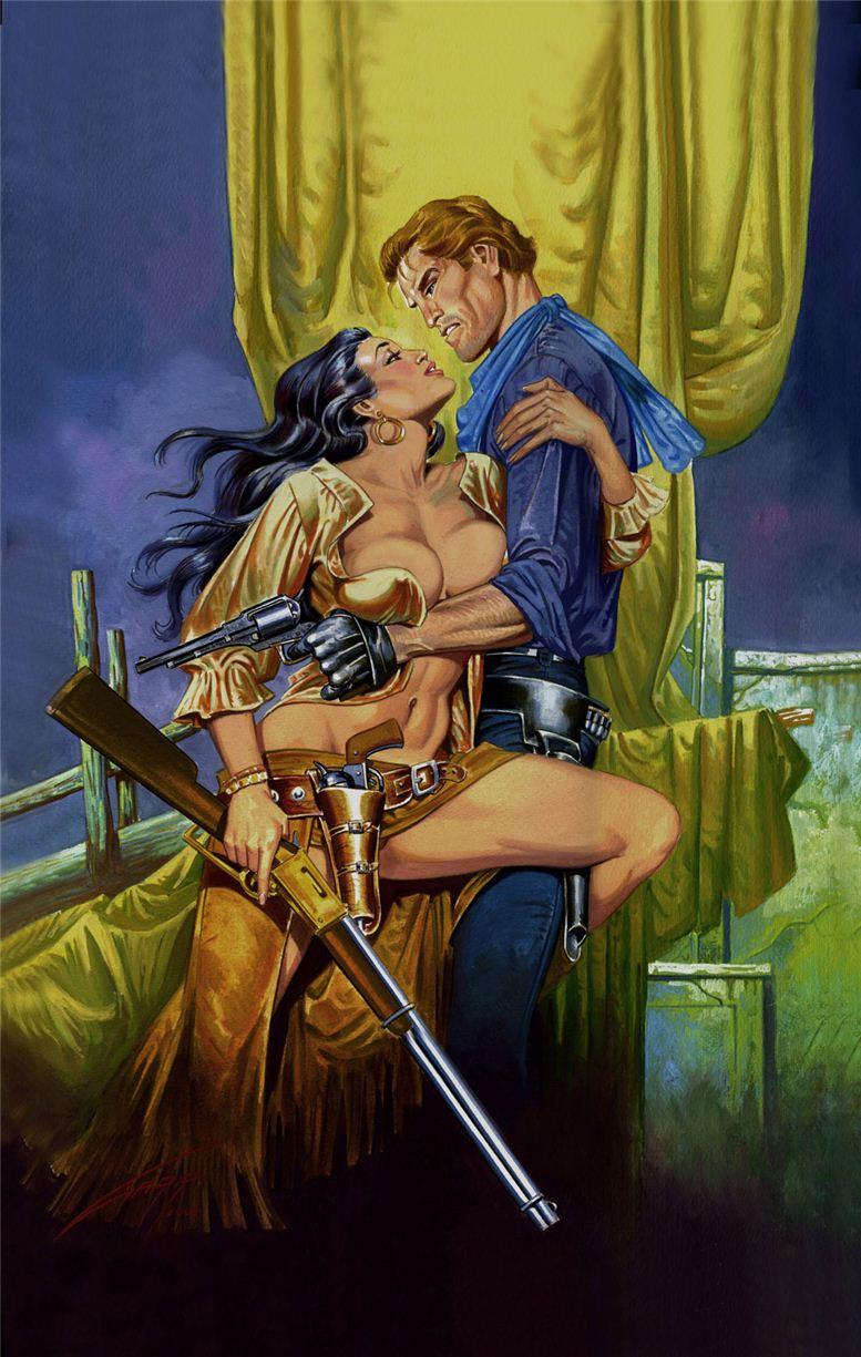 Горячие женщины - Рисунки художника Рафаэля Галлура / Rafael Gallur pictures - La Ley del Revolver