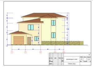 Проект двухэтажного коттеджа.