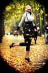 Клипарт. Осень. Картинки людей.