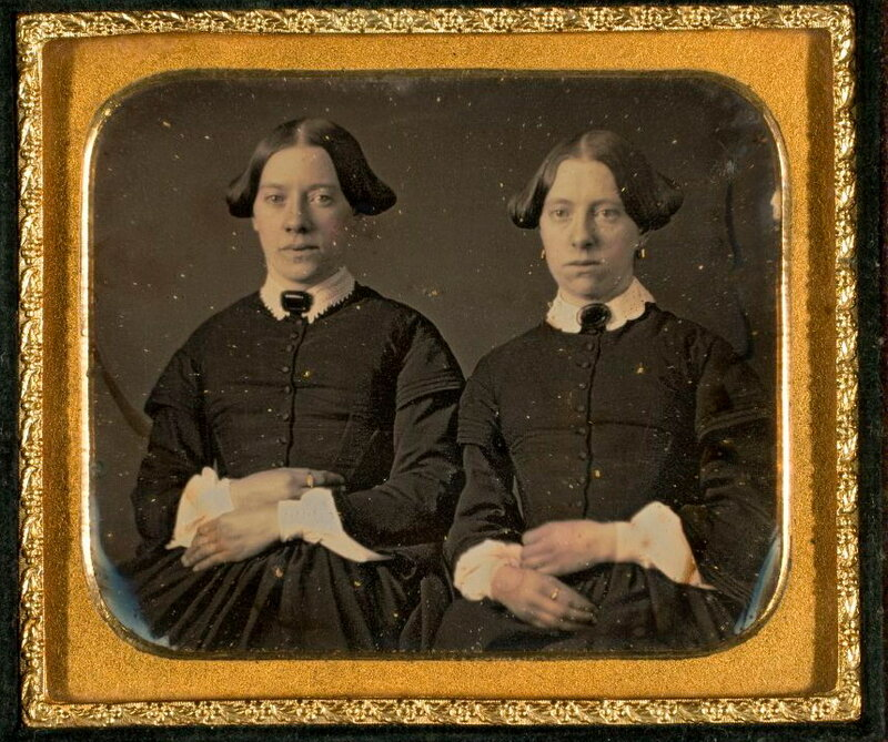 Portrait of two unidentified women, twins, ca. 1855