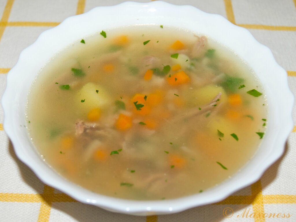 Суп из баранины на кости с рисом