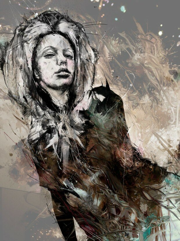 Эмоциональные рисунки. Russ Mills 15