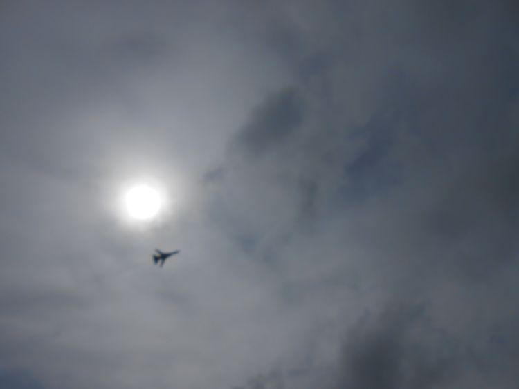 Истребитель в небе (10.07.2015)