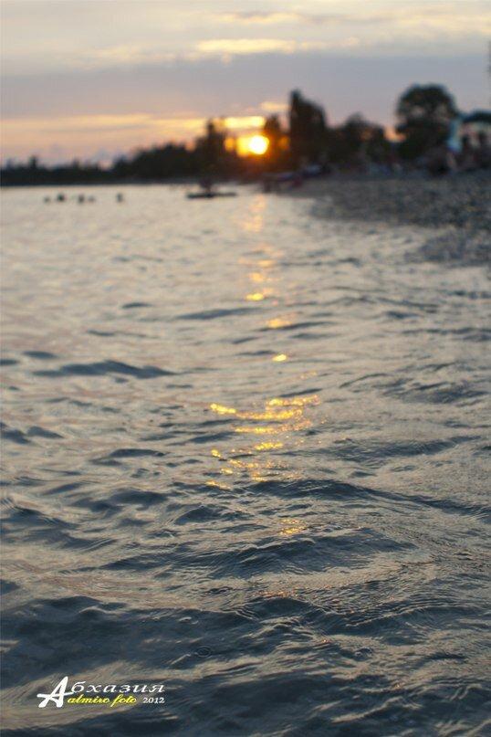 Закат в Цандрипше