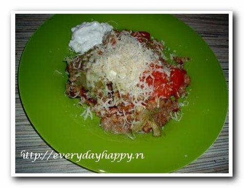 Блюдо из кабачков с помидорами