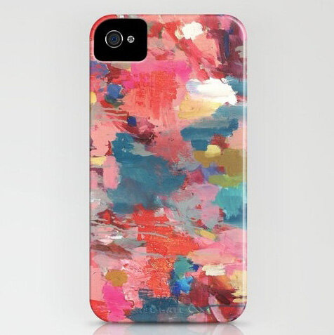 iPhone в акварельном стиле