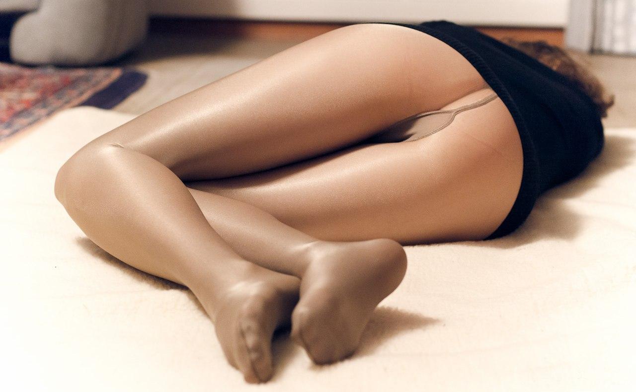 Секси ноги колготках