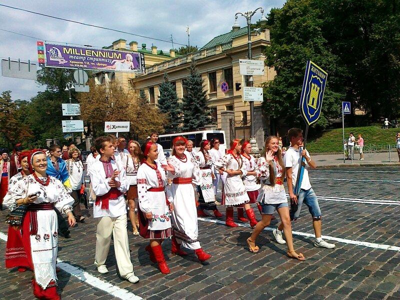 Житомир на Параде вышиванок 2012 в Киеве