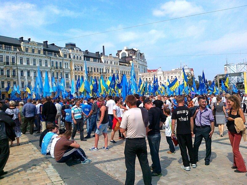 День Незалежности 2012 на Софиевской площади