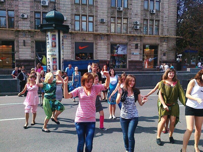 Танцы на Крещатике 1 сентября