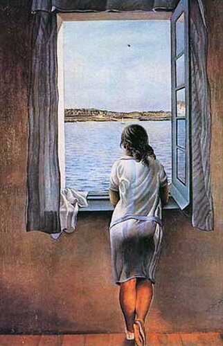 Сальвадор Дали. Девушка, стоящая у окна. 1925 год..jpg