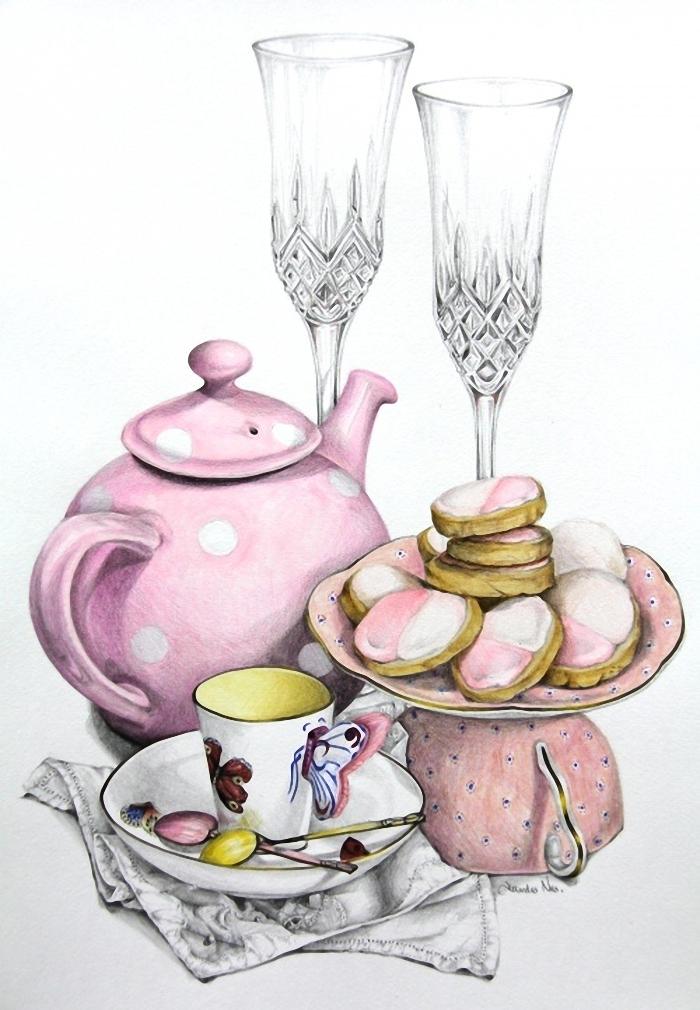 идея чаепитие картинка рисунок нашей подборке собраны