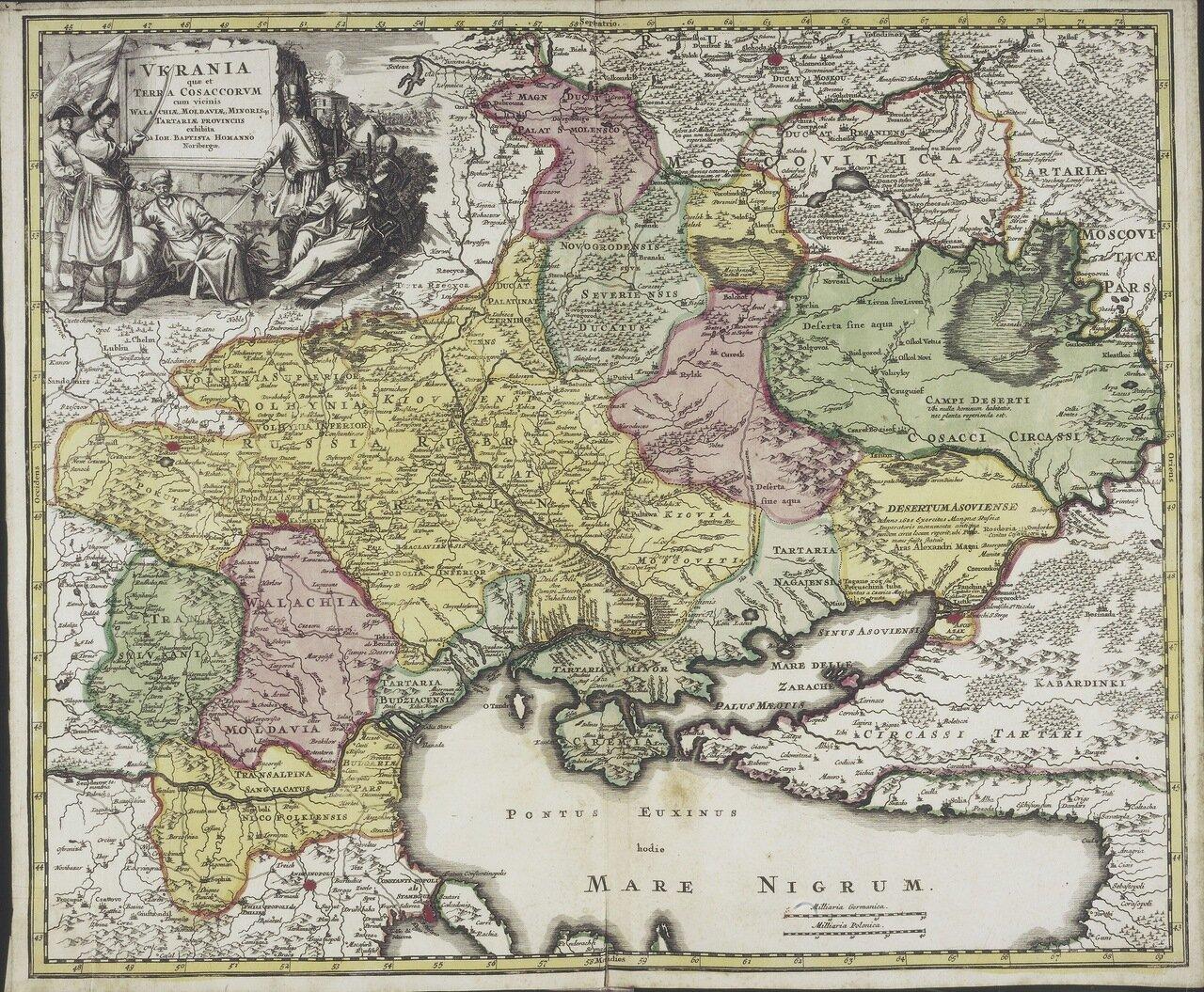 1702. Vkrania quæ et terra Cosaccorvm cum vicinis Walachiæ, Moldaviæ