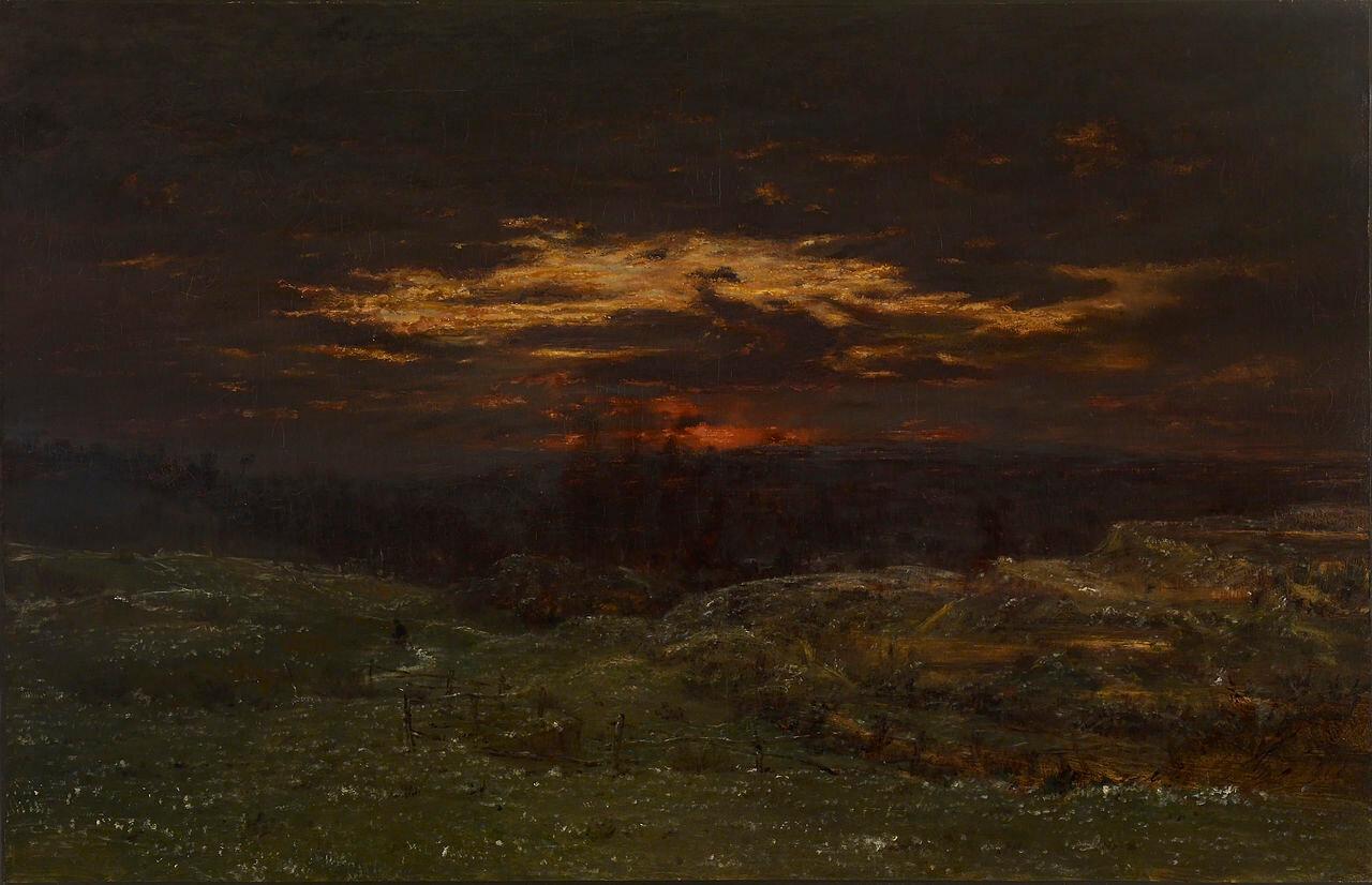 Иней, 1845, масло на холсте, Руссо, Теодор (1812-1867), Художественный музей Уолтерса
