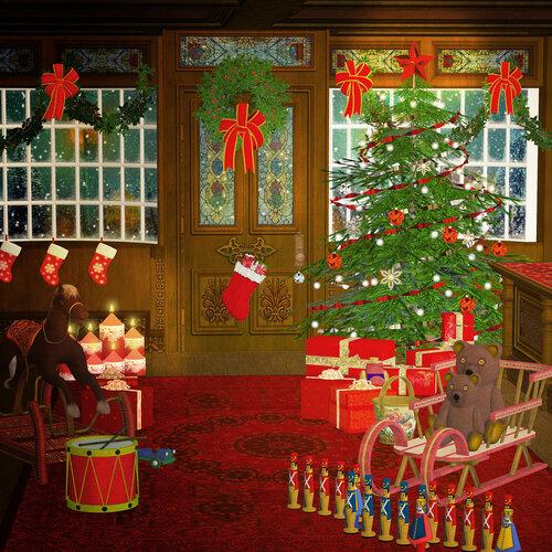 Christmas eve,  vintage background