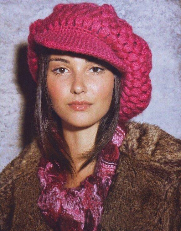 Вязание кепки с козырьком.