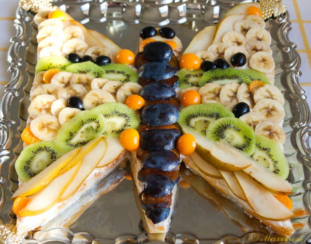 Фруктовый торт «Бабочка»